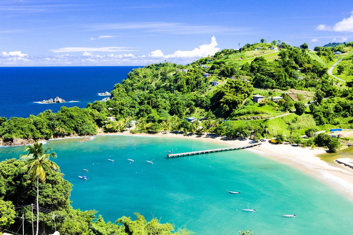 Wunderschöne Parlatuvier Bay auf Trinidad und Tobago