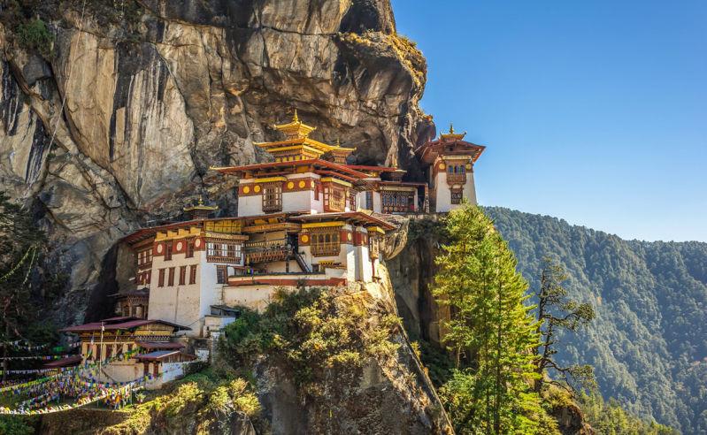 Buddhistisches Kloster Taktshang im Parotal in Bhutan