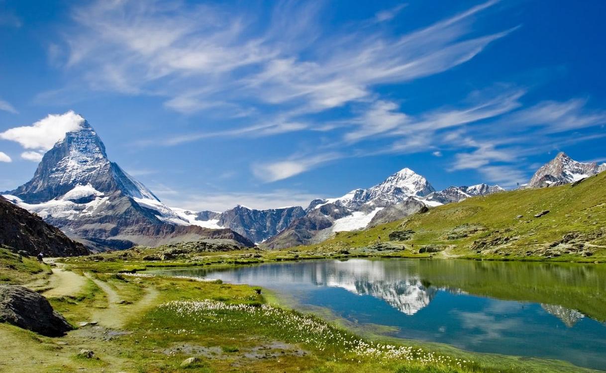 Riffelsee am Matterhorn in der Schweiz
