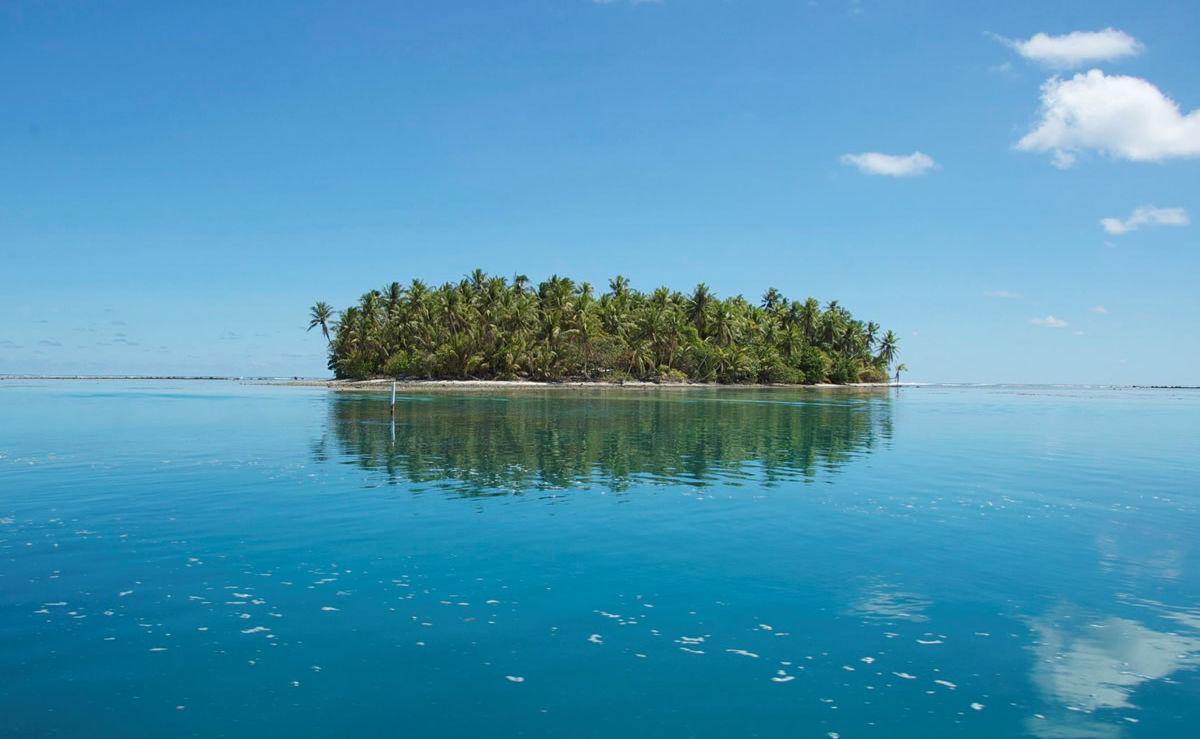 Insel Tokelau mit Palmen