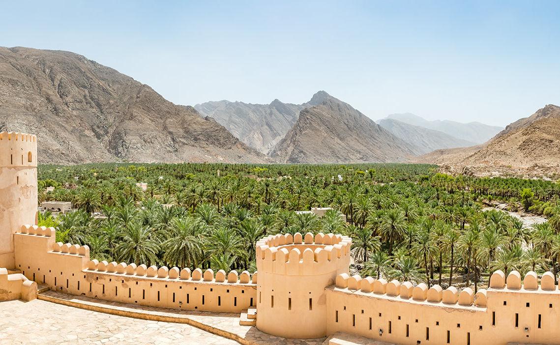 Panorama von Nachl im Oman
