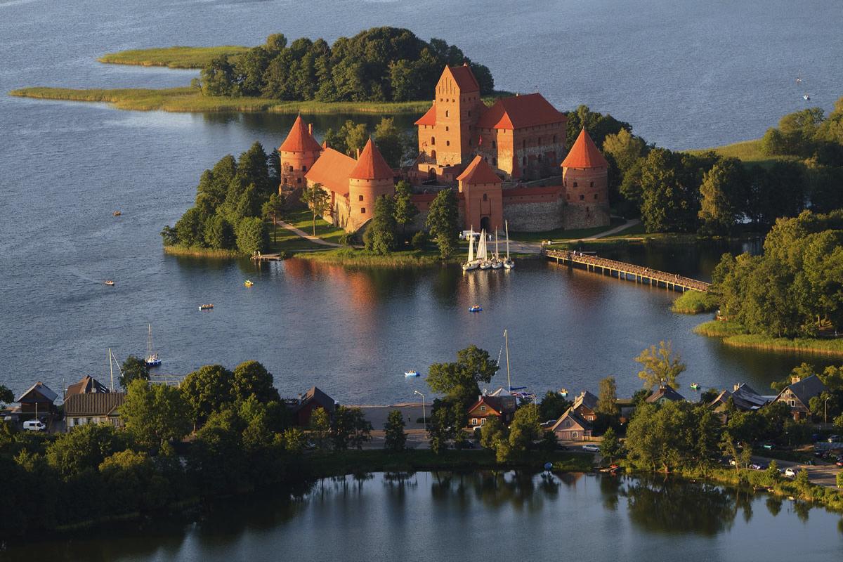 Wasserburg Trakai in Litauen