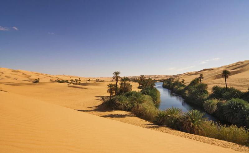 Um el Ma See in der Sahara (Libyen)
