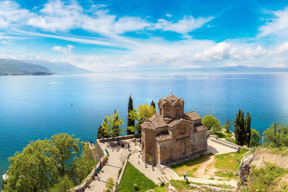 Kirche von St. John zu Kaneo in Mazedonien