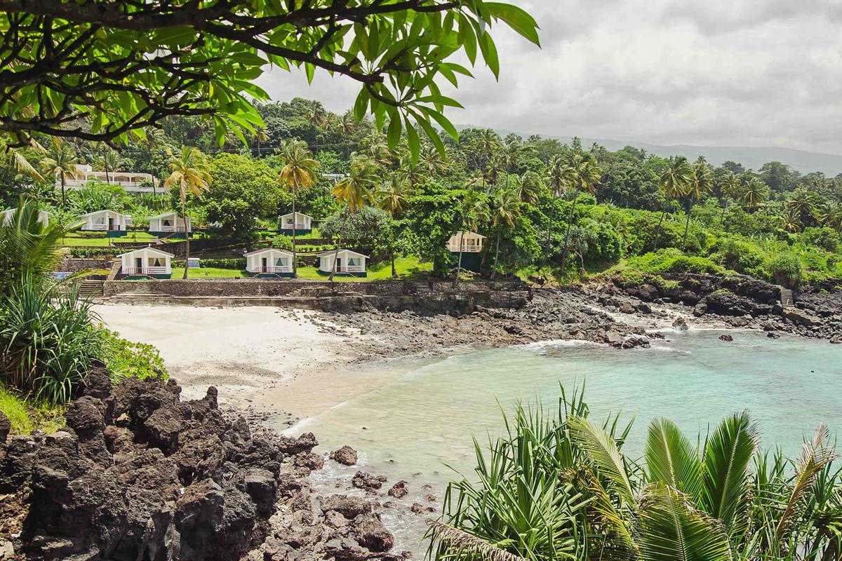 Schöne Bucht in Moroni auf den Komoren