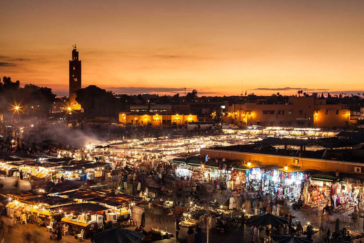 Marrakesch, Djemaa el Fna (Marokko)