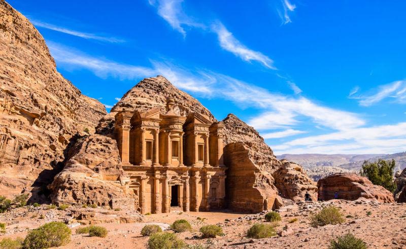 Ad Deir (The Monastery) nahe der antiken Stadt Petra in Jordanien