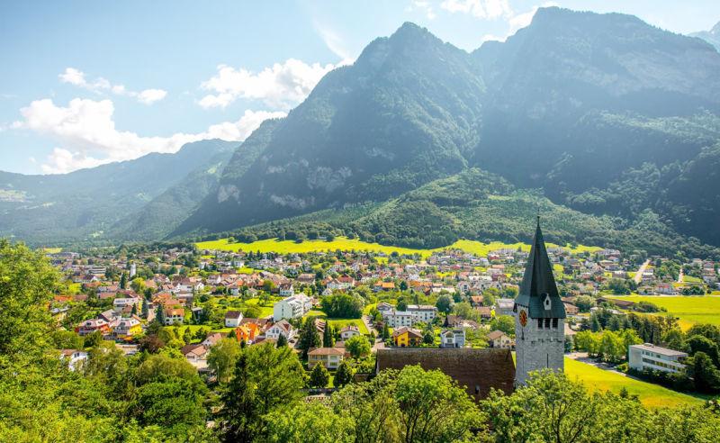 Panorama Balzers in Liechtenstein