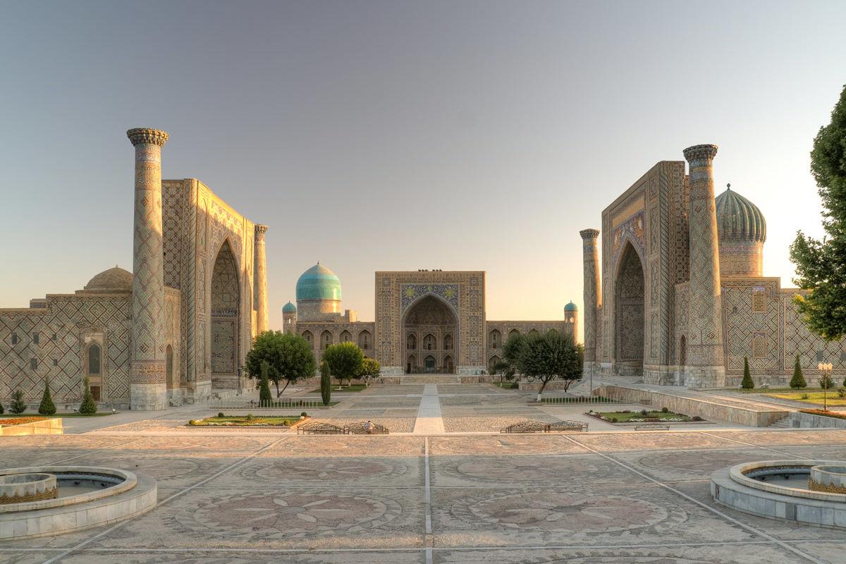 Registanplatz in Samarkand in Uzbekistan