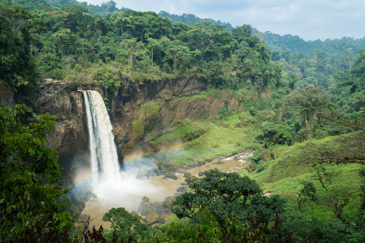 Ekom-Nkam-Wasserfälle in Kamerun