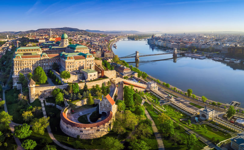 Luftaufnahme Budapest (Ungarn)