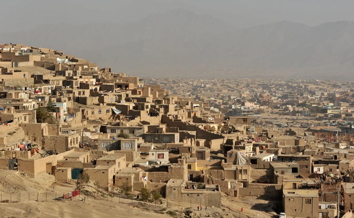 Blick auf Kabul, Afghanistan