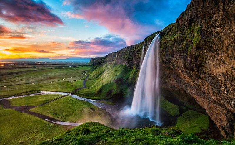 Seljalandsfoss Wasserfall auf Island