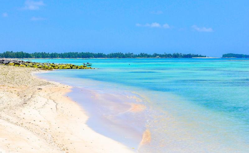 Sandstrand auf Tuvalu