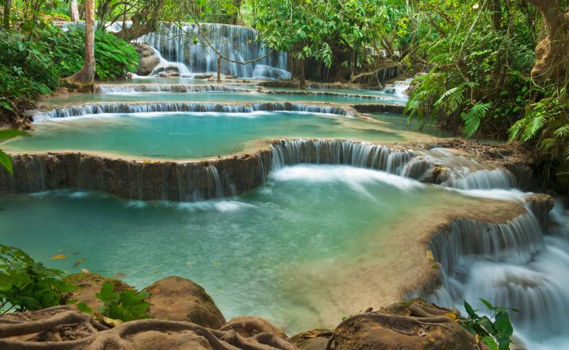 Kuang Si Wasserfall bei Luang Prabang in Laos