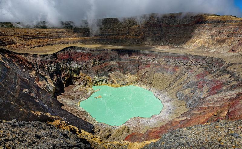 Laguna Ilamatepec im aktiven Vulkan Santa Ana in El Salvador