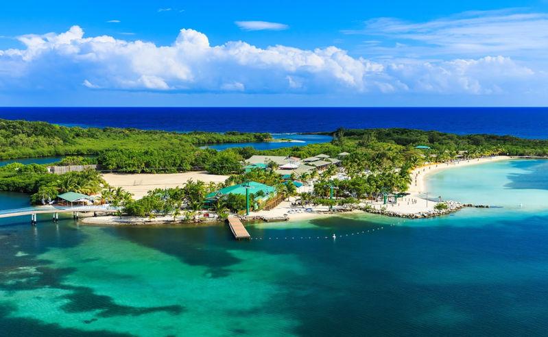 Insel Roatán vor Honduras