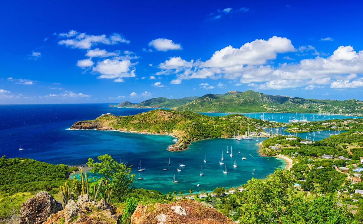 Blick von Shirley Heights in Antigua