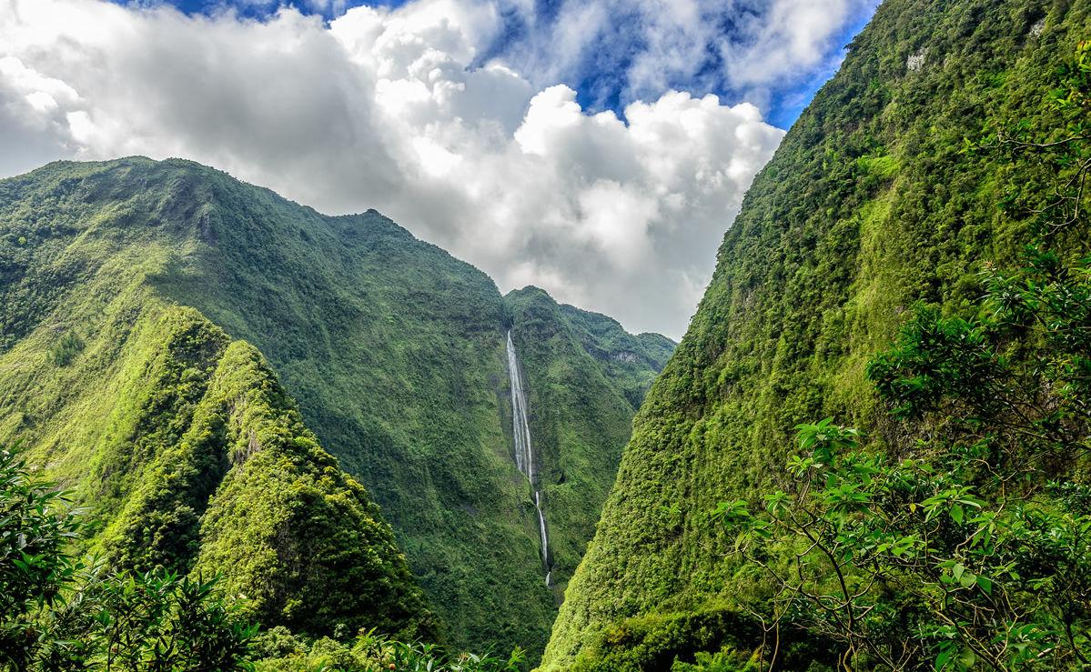 Wasserfall im Cirque de Salazie auf der Insel La Réunion