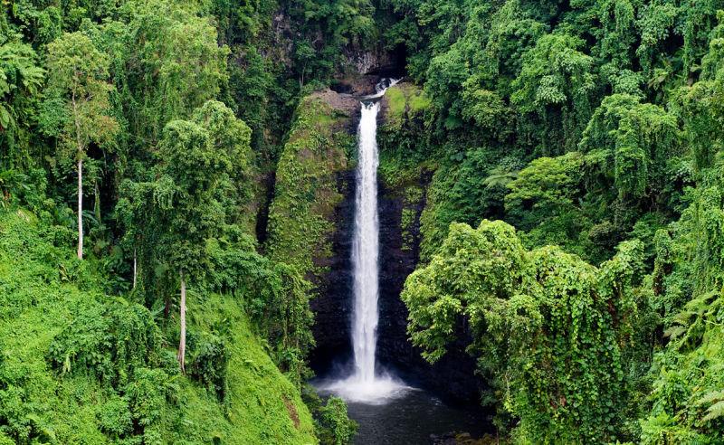 Sopoaga Wasserfall auf Samoa