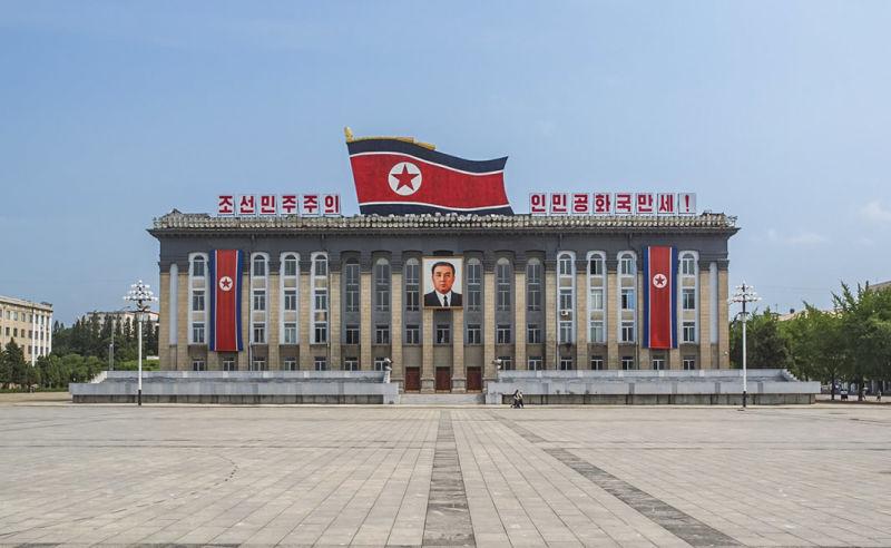 Kim-Il-sung-Platz in Pjöngjang in Nordkorea