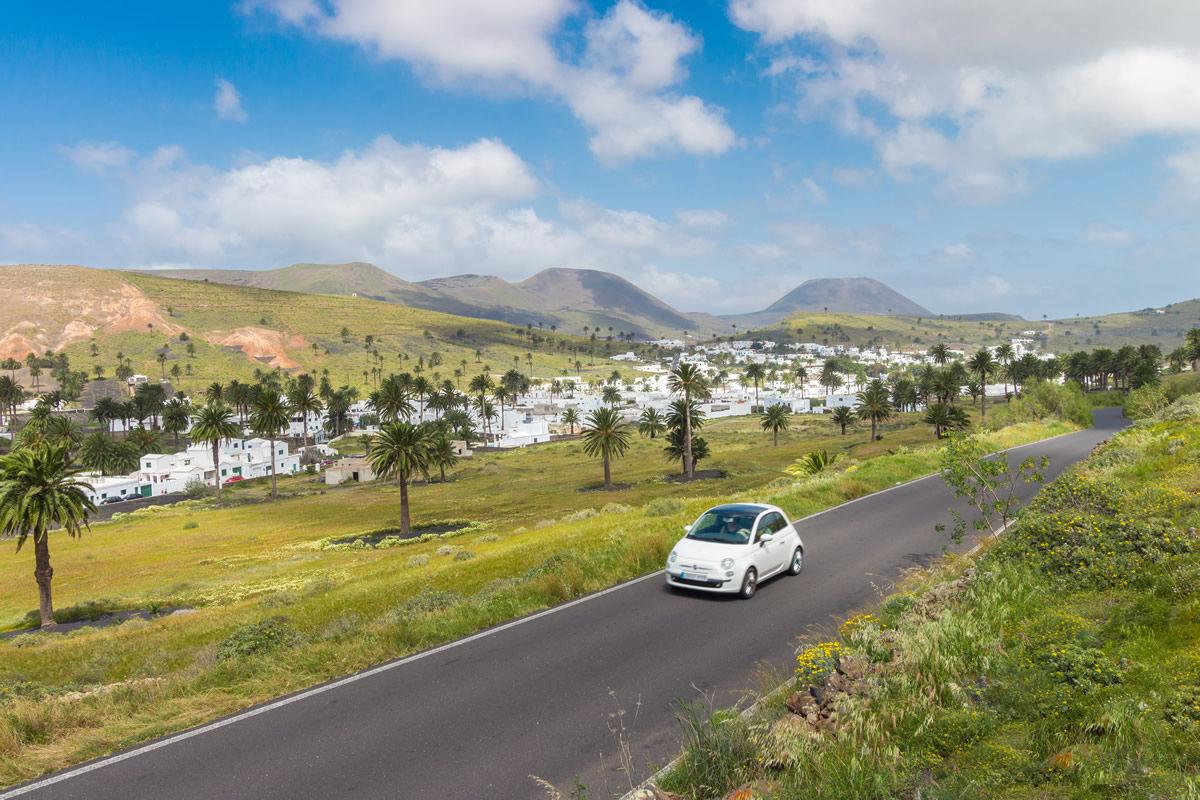Panorama von Haría auf Lanzarote