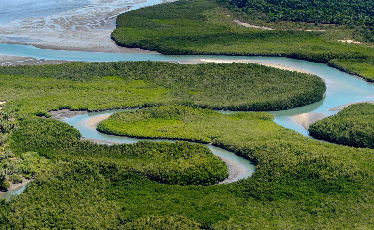 Fluss im UNESCO-Biosphärenreservat Bissagos-Archipel in Guinea-Bissau