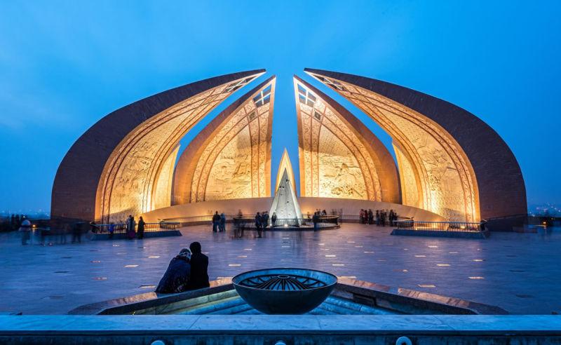 Pakistan Monument in Islamabad in Pakistan