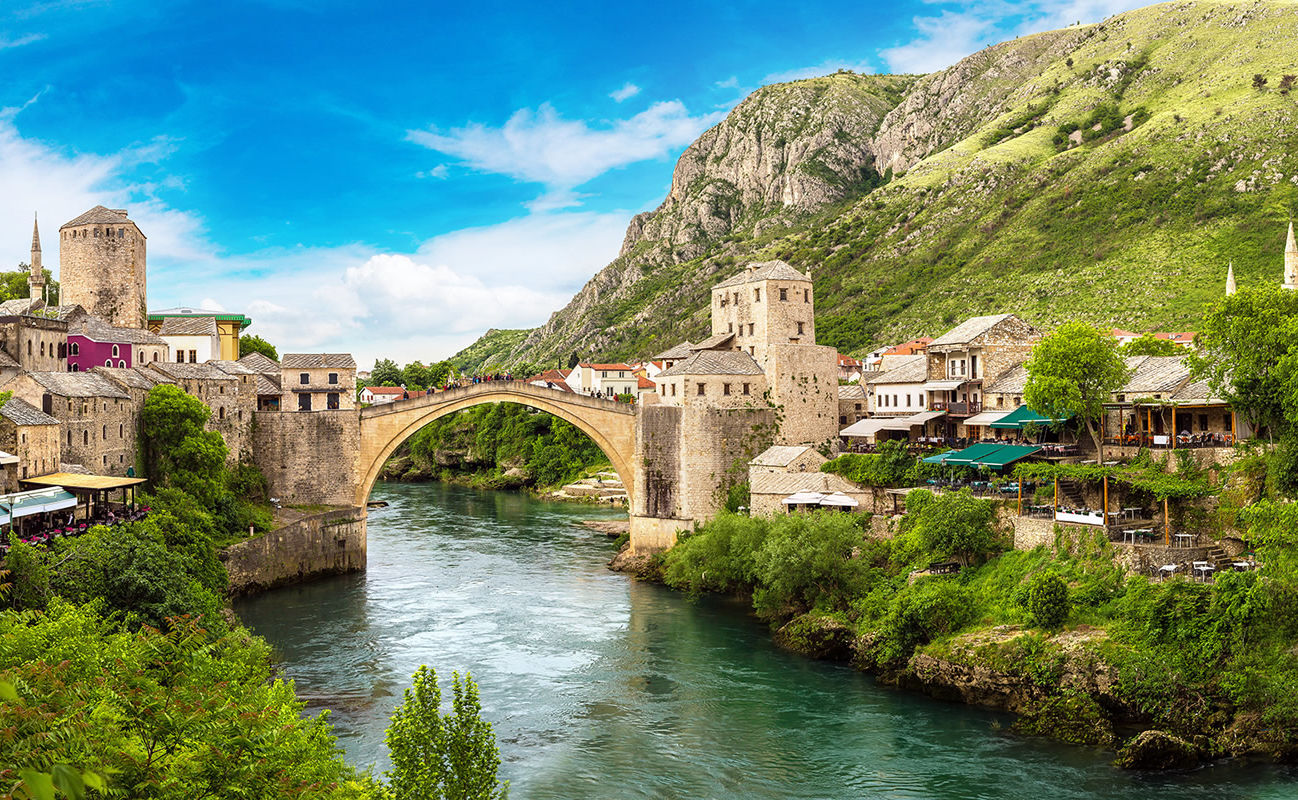 Brücke Stari most in Mostar