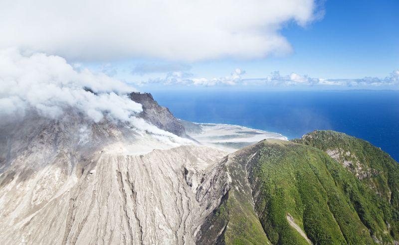 Vulkan Soufrière Hills auf Montserrat