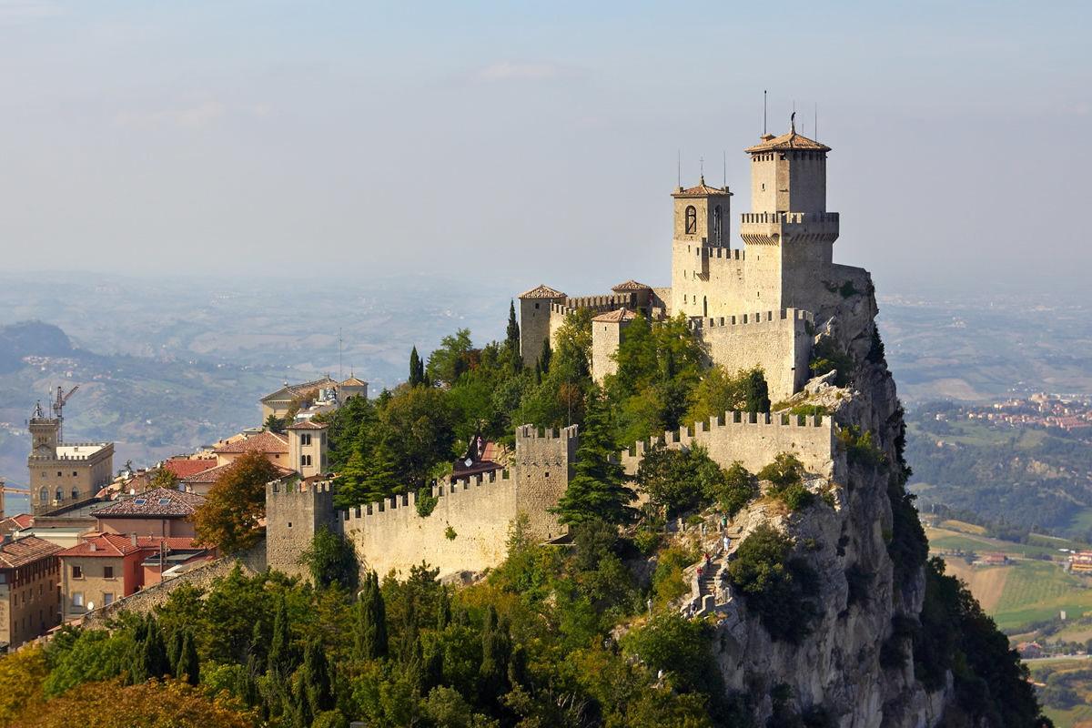 Burg von San Marino auf dem Berg Titano