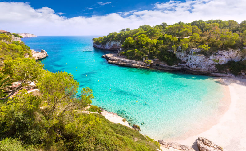 Bucht von Cala Llombards auf Mallorca