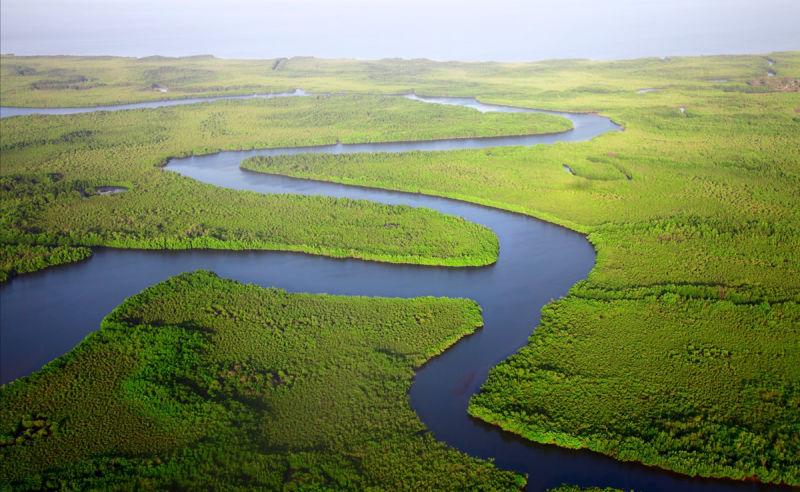 Fluss in Gambia