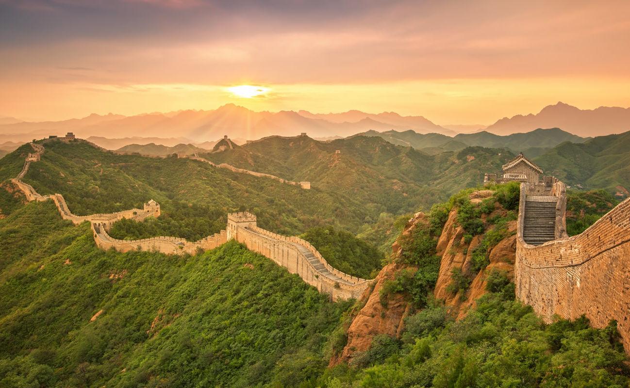 Sonnenuntergang an der Chinesische Mauer