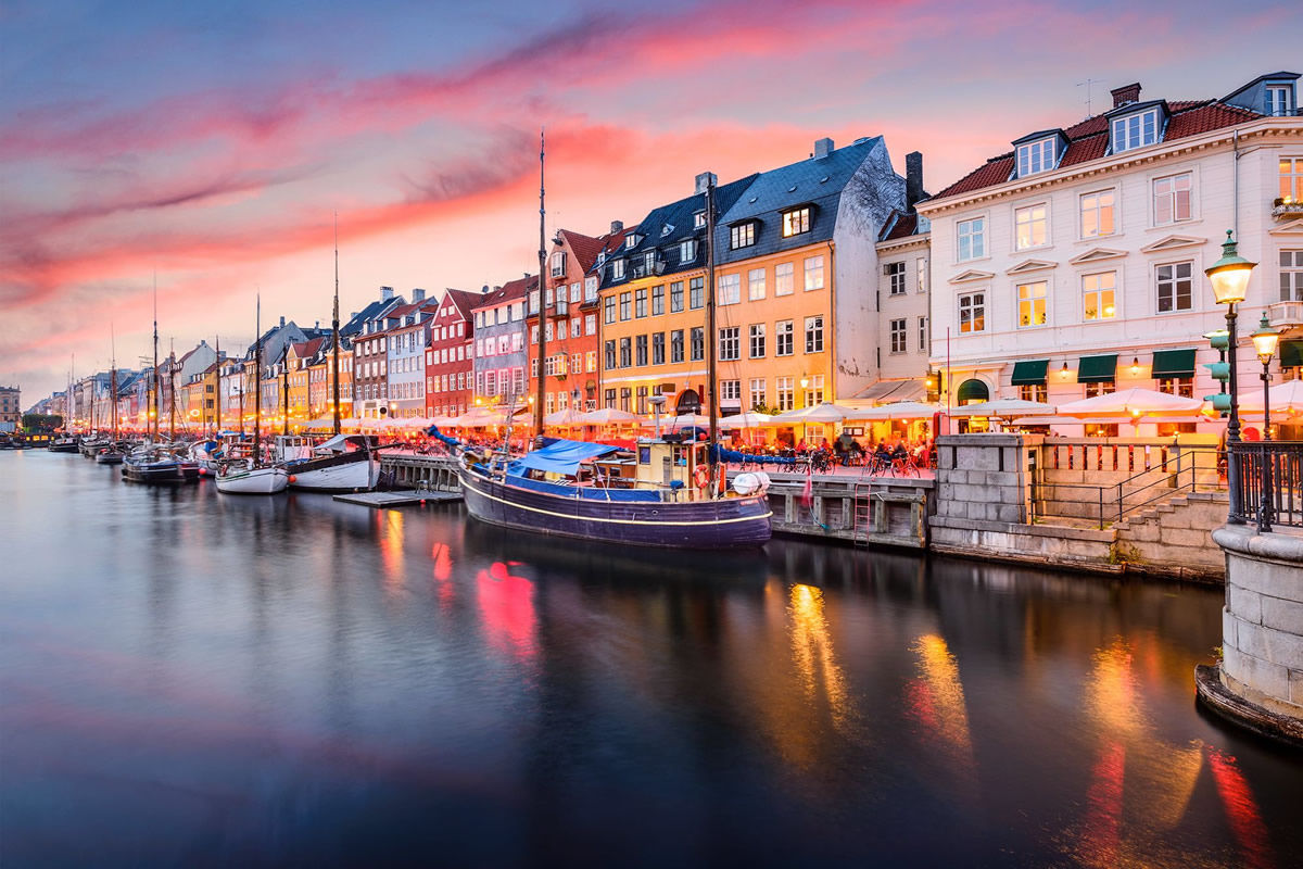 Nyhavn-Kanal in Kopenhagen, Dänemark