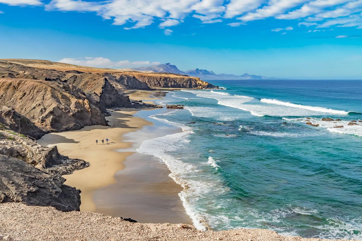 Playa del Viejo Rey an der Westküste von Fuerteventura
