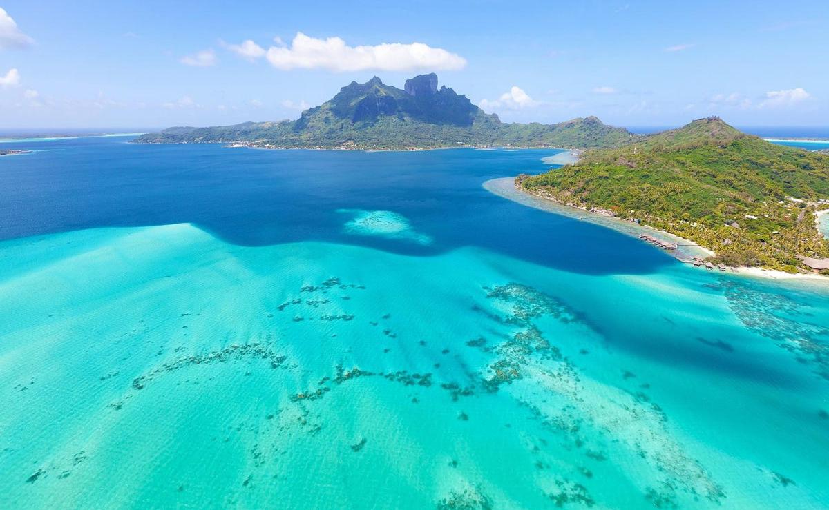 Mount Otemanu auf der Insel Bora Bora in Französisch-Polynesien