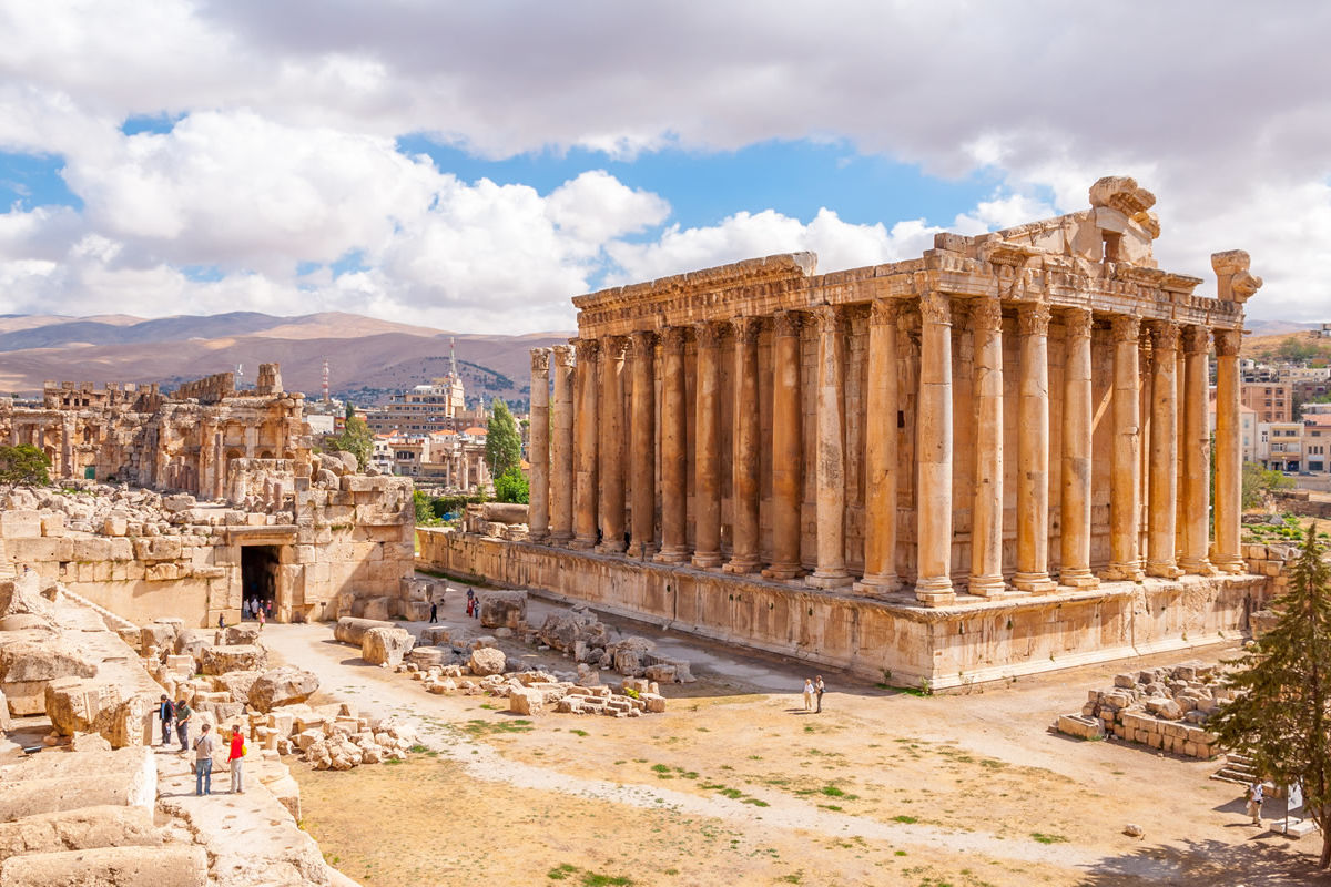 Bacchus-Tempel in Baalbek, Libanon