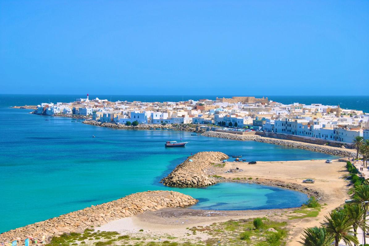 Strand von Mahdia in Tunesien