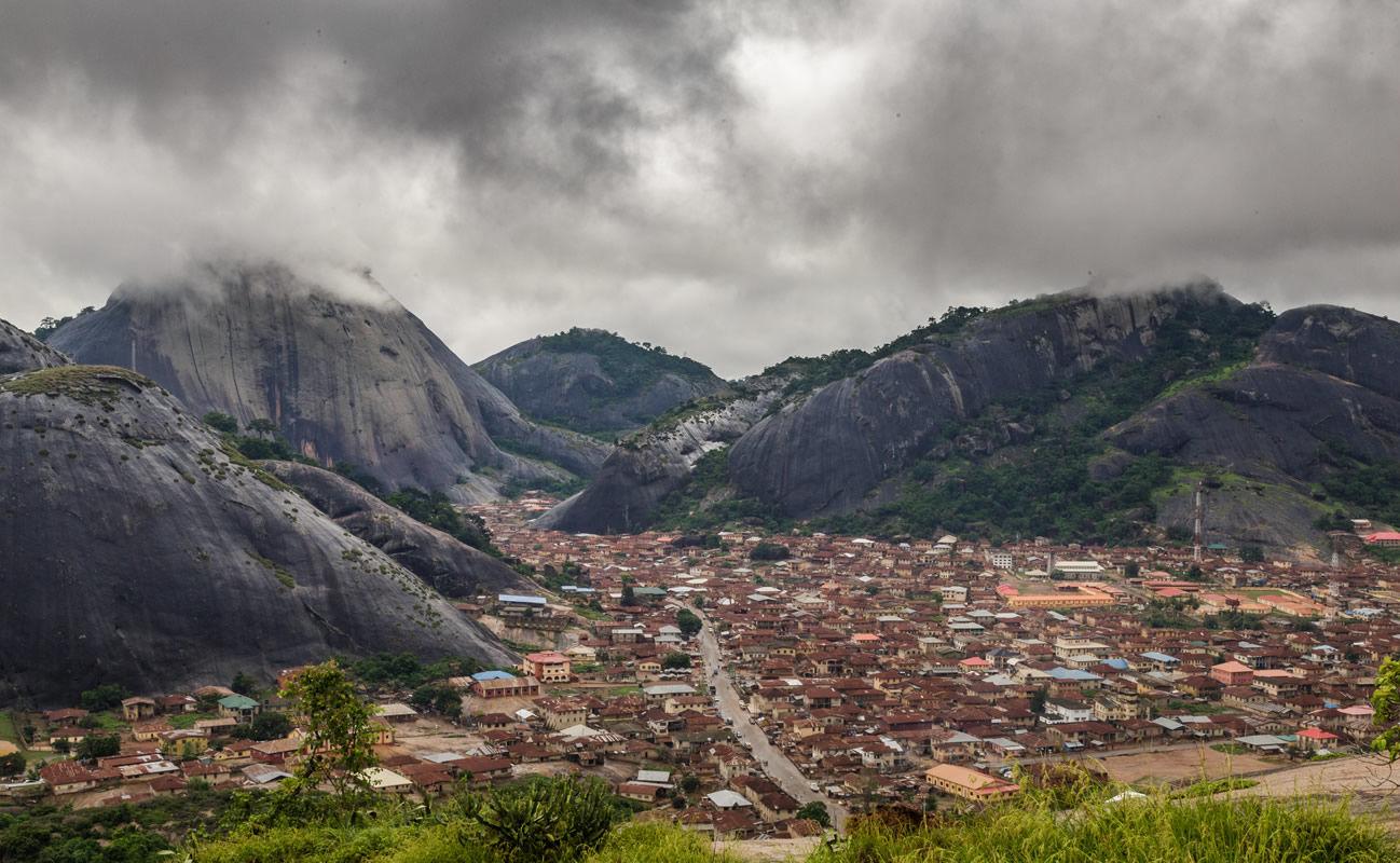 Berge bei Idanre in Nigeria