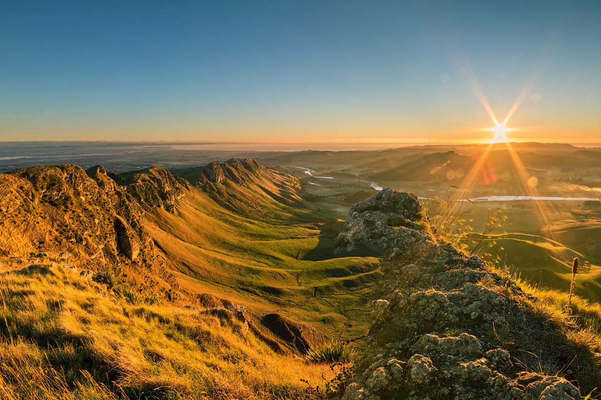 Blick vom Gipfel des Te Mata in Neuseeland