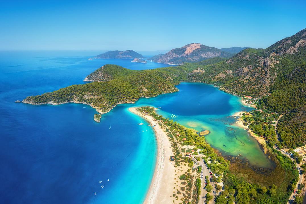 Blaue Lagune in Ölüdeniz in der Türkei