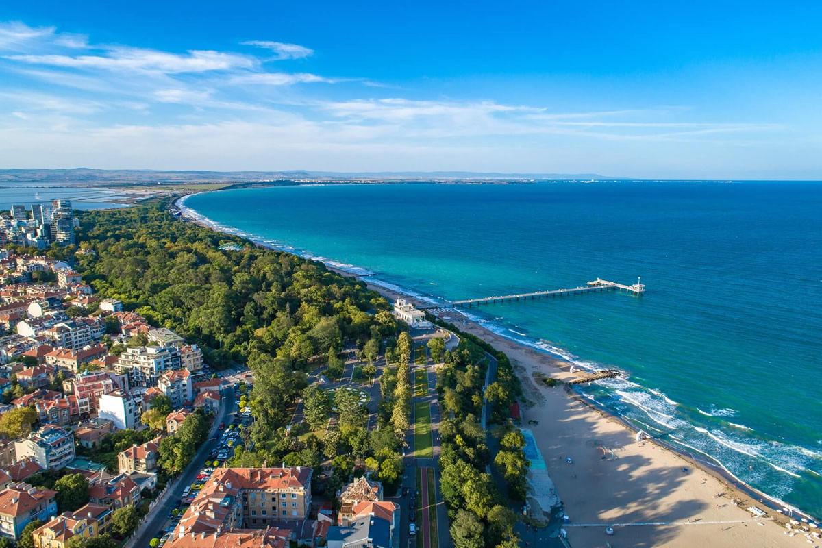Strand von Burgas in Bulgarien