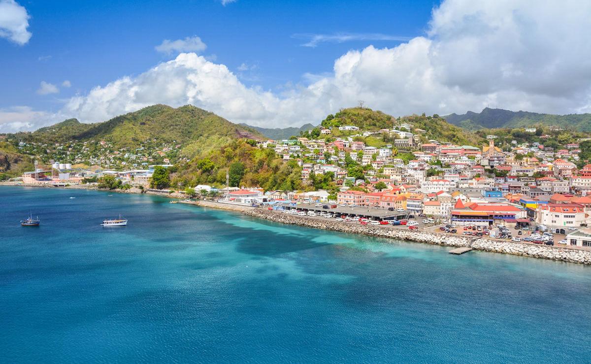 Hafen von St. George auf der Karibikinsel Grenada