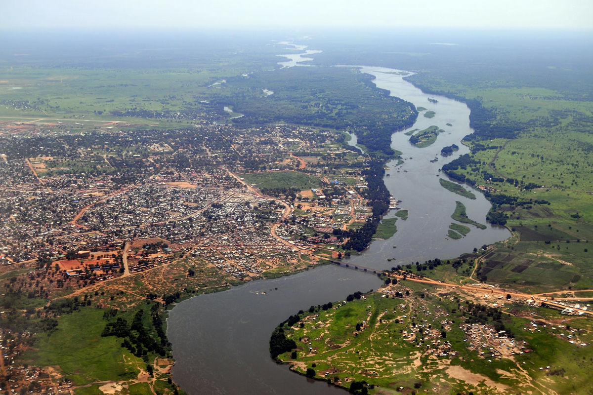 Luftaufnahme der Hauptstadt Juba im Südsudan