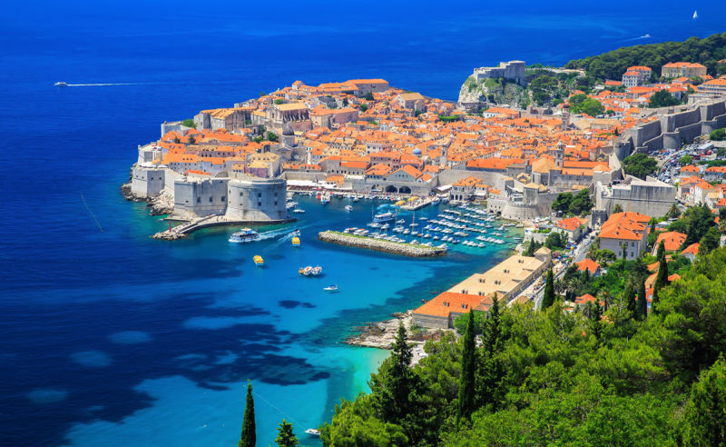 Panorama der Altstadt von Dubrovnik in Kroatien