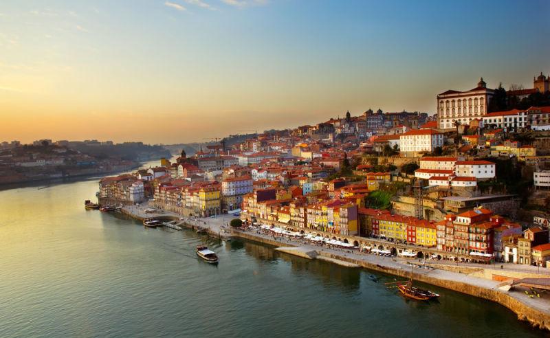 Hafen von Porto in Portugal