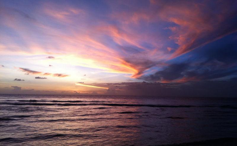 Sonnenuntergang auf der Insel Nauru