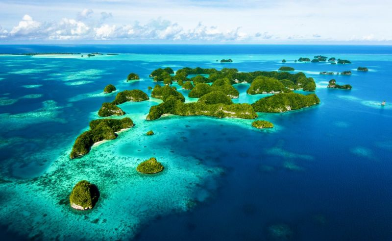 Luftaufnahme von Palau