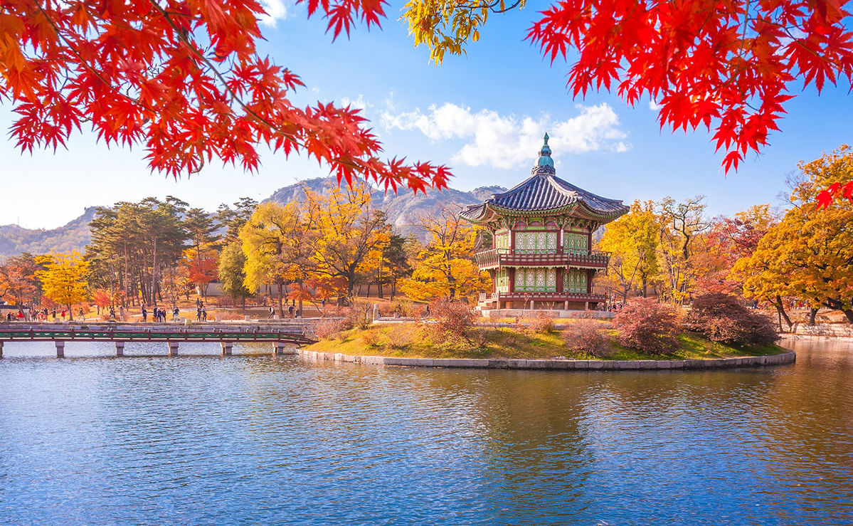 Gyeongbokgung Palast in Seoul im Herbst